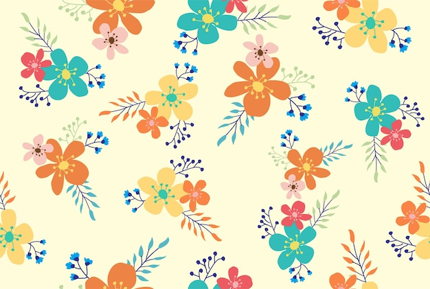 Цветочный милый бесшовный узор