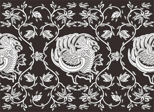 インドネシアのバティックモチーフ、模様が施された特別なデザイン