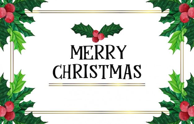 ゴールドフレームとエレガントなクリスマス