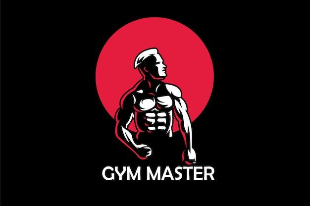 Фитнес логотип шаблон