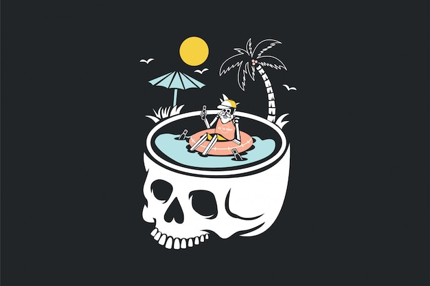 夏とビーチの漫画