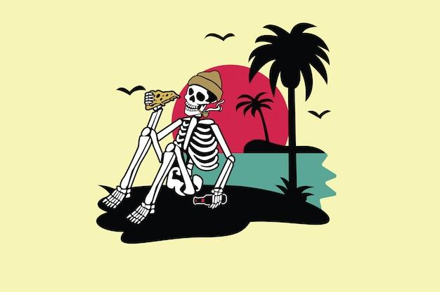 Череп летняя футболка графический дизайн