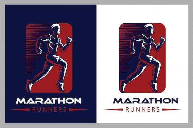 Логотип атлетик бег