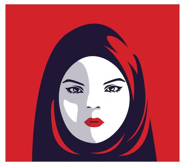 イスラム教徒のファッションの女性