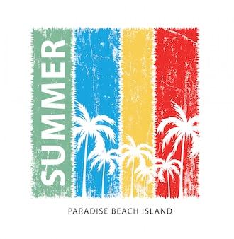 夏の楽園プリント