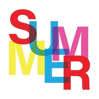 夏のタイポグラフィ