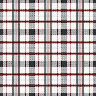 タータンパターンのシームレスなファブリックの背景に赤とグレーのトーン。チェッカーテクスチャのチェック柄