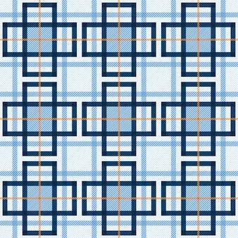 タータンのシームレスパターン生地の背景。