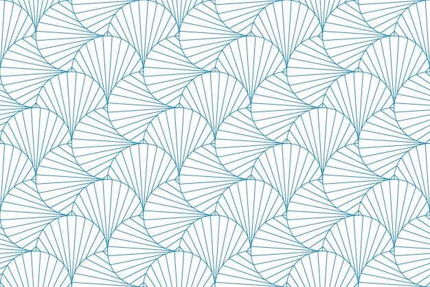 抽象的な幾何学模様のシームレスな青い線