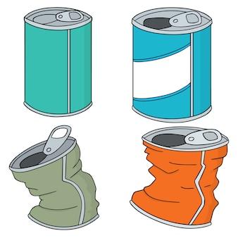 缶のベクトルセット