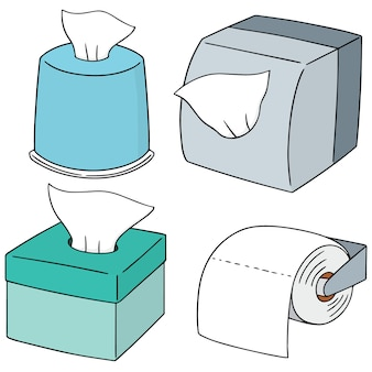 Векторный набор салфеточной бумаги