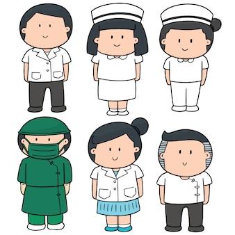 医療スタッフのベクトルセット