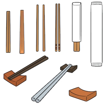 箸のベクトルセット