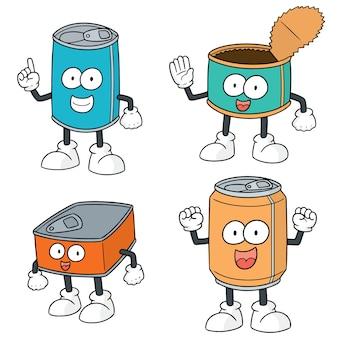 缶の漫画のセット
