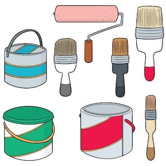 Набор ковров для краски и кисть