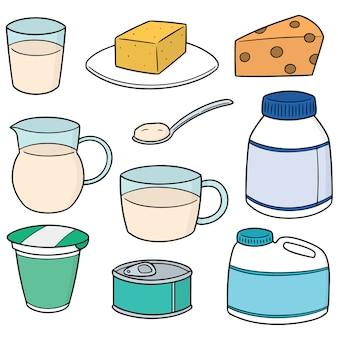 乳製品のベクトルセット