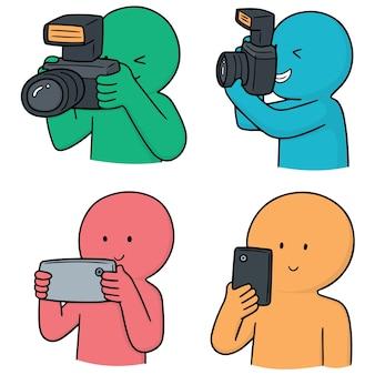 写真家のベクトルセット