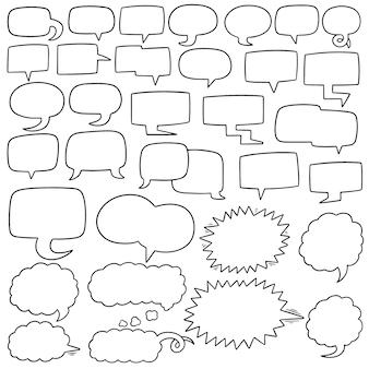 Векторный набор речевых пузырьков