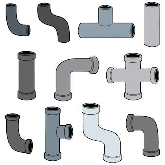 Векторный набор труб