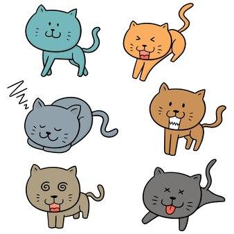 猫のベクトルセット