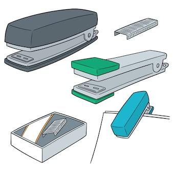 Векторный набор степлеров
