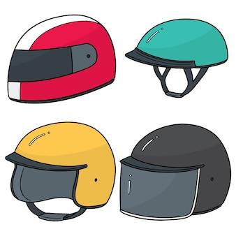 オートバイのヘルメットのセット
