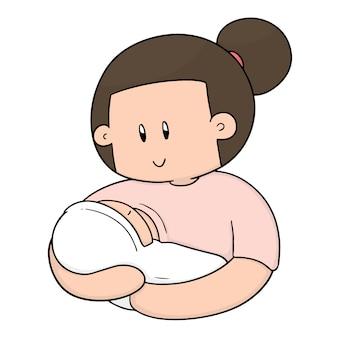 授乳中の母親と赤ちゃん