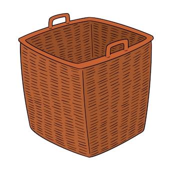Вектор плетеной корзины