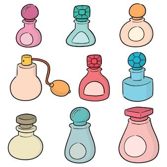 香水ボトルのベクトルセット