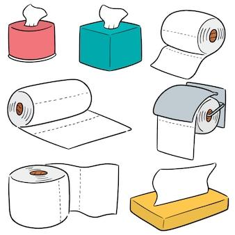 Векторный набор тканевых бумаг