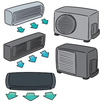 エアコンのベクトルセット