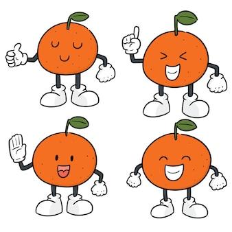 オレンジのベクトルセット