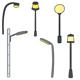 Векторный набор наружной лампы