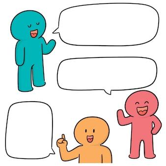 Векторный набор людей, говорящих