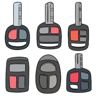 Векторный набор автомобильных ключей