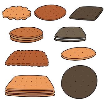 クッキーとビスケットのベクトルを設定