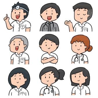 医療スタッフのベクトルを設定