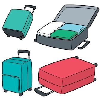 スーツケースのベクトルを設定
