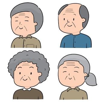 高齢者のベクトルを設定