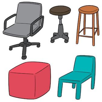 Векторный набор стульев