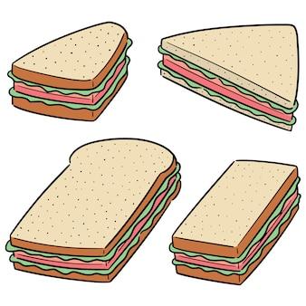 Векторный набор сэндвич