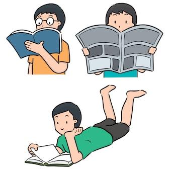 Векторный набор читателя