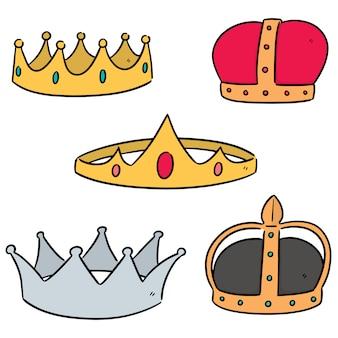 Векторный набор коронок