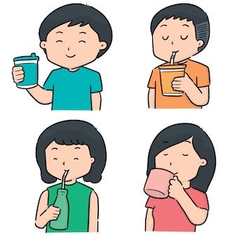 飲む人のベクトルを設定