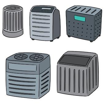 Векторный набор очистителя воздуха