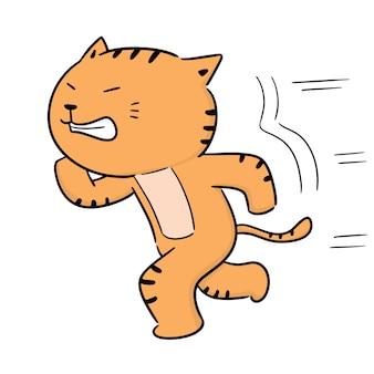 走っている猫のベクトル
