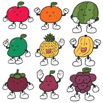 Векторный набор фруктов