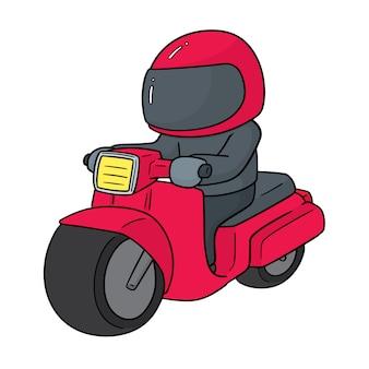 バイクに乗る