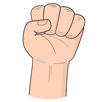 Рука кулака мультфильма