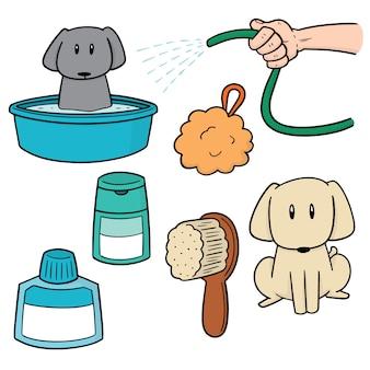 犬のシャワーのセット
